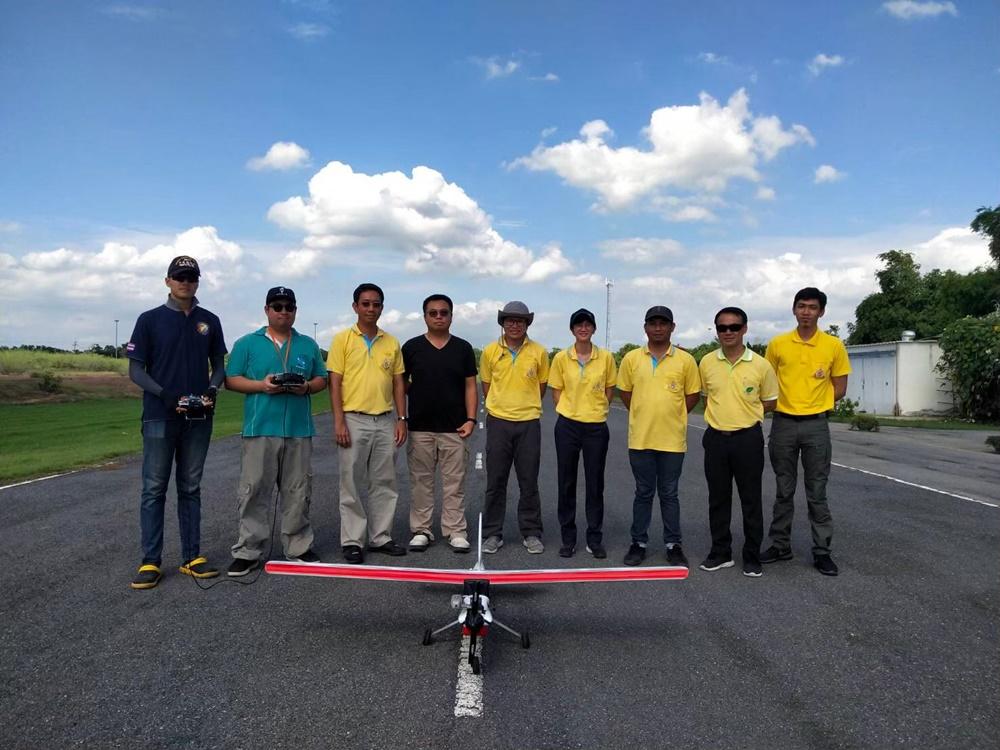 ภาพการทดสอบระบบปรับปรุงประสิทธิภาพ อากาศยานไร้นักบิน สำหรับติดตามสถานการณ์